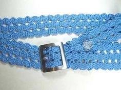 Cinturones tejidos a crochet