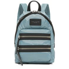 Marc Jacobs Nylon Biker Mini Backpack ($175) ❤ liked on Polyvore featuring bags, backpacks, backpack bags, mini rucksack, mini backpack, day pack backpack and nylon rucksack