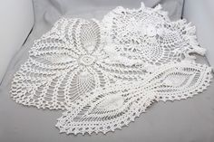 Vintage Doily 3 pc Craft Lot Handmade Lace Crochet Detailed Leaf Doilies http://autopartspuller.com/ Great Sale 50% off entire store!! Copper, Glassware, Wood Crafts, Scrap Booking