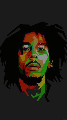 Bob Marley Dark Art Illust Music Reggae Celebrity #iPhone #7 #wallpaper