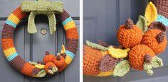 Crocheted Fall Wreath DIY