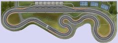 Image result for wood routed slot car track photos