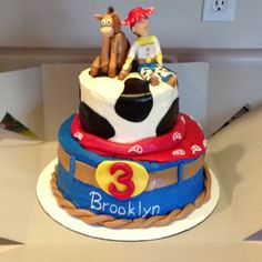Awesome Jessie Cowgirl Birthday cake for Brooklyn!  Thanks Faith, she loved it!
