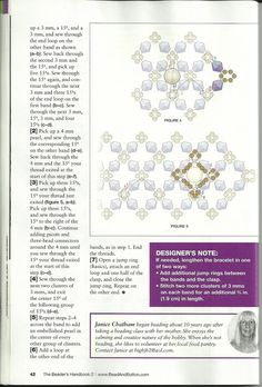 Bead & Button The Beader's Handbook 2  (p 42)  Designer:  Janice Chatham  Materials: