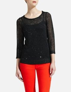 Sheer Sequin Sweater | Women's Sweaters | THE LIMITED