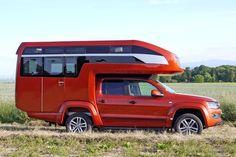 Now here's a camper with a view! New sweet camper design you have to see to believe (Interior Photos) Truck Camper, Pickup Camper, Off Road Camper, Camper Van, Vw Amarok, Volkswagen Amarok, Auto Volkswagen, Toyota Hilux, Motorhome