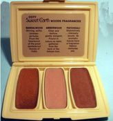 """Remember these 70's scents? Coty's Sweet Earth solid perfumes. You had your choice of """"woods"""" in one compact or """"herbs"""" in another, =)"""