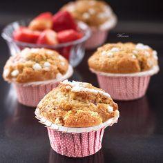 Muffins de morango - Muffins de morango doce coisa acontecendo - blog de Vinnie