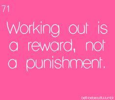 It's not a punishment.