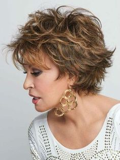Browse our Short Wigs for women. Short wigs above the shoulder to bobs and boys cuts in straight, wavy to curly styles. Shaggy Short Hair, Short Shag Hairstyles, Short Curly Hair, Short Hair Cuts, Curly Hair Styles, Natural Hair Styles, Layered Hairstyles, Teenage Hairstyles, Gorgeous Hairstyles