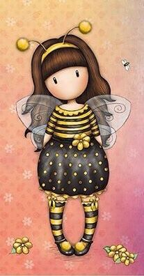 Gorjuss Bee-Loved Greetings Card from Santoro London.ur Gorjuss girl is dressed in an adorable bee outfit complete with wings and antennae. Santoro London, Art Mignon, Step By Step Painting, Shell Crafts, Digi Stamps, Cute Images, Copics, Manga Comics, Pictures To Draw