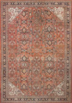 Antique Persian Sultanabad Rug, Country or Origin / Rug Type: Persian Rugs, Circa Date: 1900  13 ft 10 in x 20 ft (4.22 m x 6.1 m)