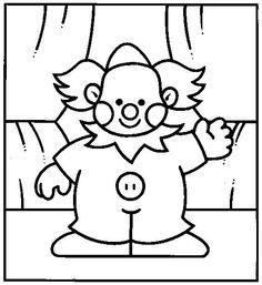 Desenhos para colorir para crianças. Desenhos para imprimir e colorir Circo 11
