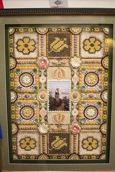 Seashell mosaic art work by Karine Mirzakanyan