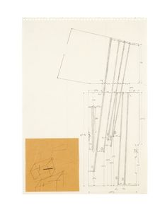 Joseph Beuys - Stripes From The House Of The Shaman, 1980  pencil and paper collage on paper (29.5 by 20.8cm)