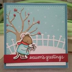 """""""This card is for 'The Sweet Sunday Sketch '. This little mouse is from the Harvest Mouse stamp set by and the background is made using the…"""" Christmas Diy, Christmas Cards, Harvest Mouse, Sweet Sundays, Lawn Fawn Stamps, Mft Stamps, Greeting Cards Handmade, Creative, Instagram Posts"""