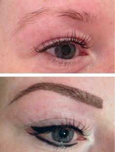 Eyeliner en hairstrokes