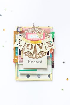 Maggie Holmes Design Team : Our Love Record Mini Album by Jessy Christopher