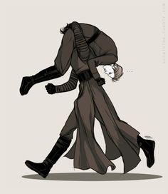 Hux: KYLO PUT ME DOWN! Kylo: No, you're going to the trash compactor.