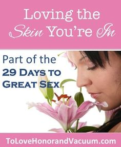 It's Day 3 of the 29 Days to Great Sex series, and today we're going to talk about accepting your body. 29 Days to Great Sex is a series I'm writing leading up to the release of my book, The Good Girl's Guide to Great Sex. (Update: Now available!) So far we've looked at the purpose of sex and the lies we sometimes believe about sex, because we can't have great sex if our heads aren't in the game! If we're feeling lousy about sex, that will overflow into how we ...