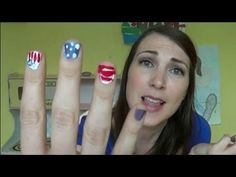 Crafty Mom takes on Patriotic Fourth of July Nail Art and it's hilarious! WATCH! { Funny women are rad! }
