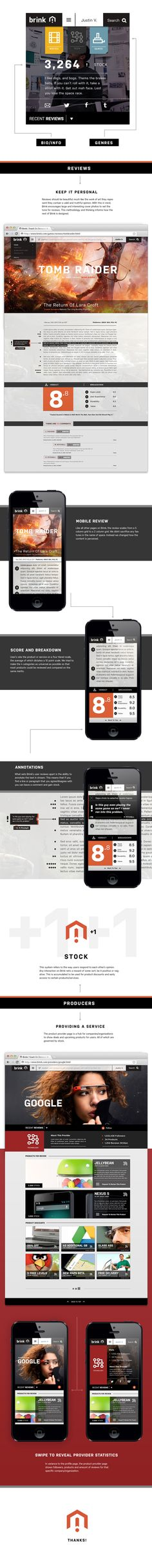 Brink by Justin Vachon, via Behance, Falt UI with realistic images tombrider