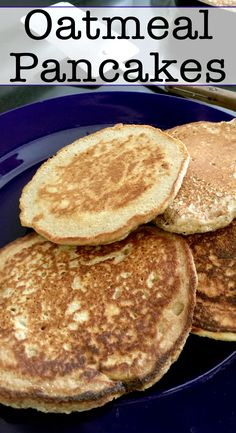 These are 100% organic oatmeal pancakes that are perfect for breakfast. These are especially great for people looking for alternatives to wheat based recipes.