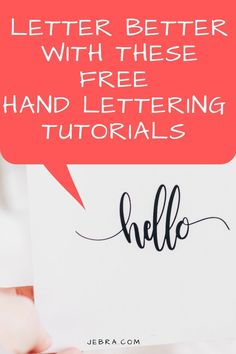 Want to write pretty with cursive, calligraphy, or lettering? These top hand lettering tutorials for bullet journaling can teach you. Plus, these video lessons are free!