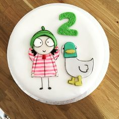 A Sarah and Duck cake for a special girl's 2nd birthday