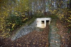 The Lettenberg bunker is situated in Kemmel, Belgium. One of four British concrete shelter...