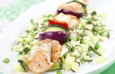 Her finner du en oppskrift med… Cobb Salad, Fish, Dinner, Dining, Pisces, Food Dinners, Dinners