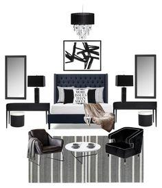 """Master bedroom"" by erikenyallen on Polyvore featuring interior, interiors, interior design, home, home decor, interior decorating, Jonathan Adler, Modloft, Kate Spade and Signature Design by Ashley"
