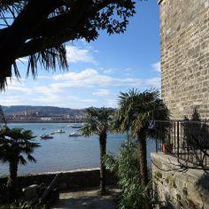 La Bidassoa et les jardins de la villa Mauresque, Hendaye, Labourd, Pays basque, Pyrénées Atlantiques, Aquitaine, France. #Hendaye #Labourd #Bidassoa #palmier