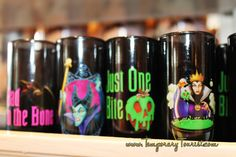 Halloween Merchandise in Walt Disney World 2013 OMG! Villain shot glasses!! We're about to want SO MANY things!!