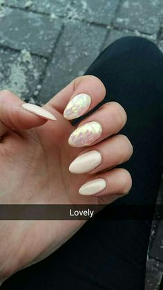 #prom #nails #nude #almonds #lovely #long #love