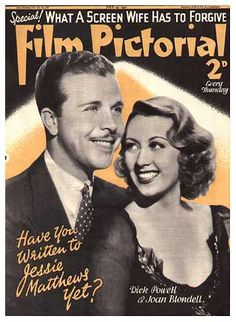 Film PIctorial Magazine with Joan Blondell and Dick Powell 1937