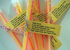 Glow sticks for Bible Club Bible School Crafts, Bible Crafts For Kids, Sunday School Crafts, Christian Halloween, Light Crafts, Glow Crafts, Glow Stick Crafts, Christian Crafts, Harvest Party