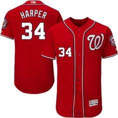 Bryce Harper Washington Nationals Majestic Alternate Flex Base Authentic  Collection Player Jersey - Scarlet 92ac6ce0d