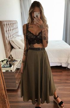 Hippie Outfits, Edgy Outfits, Cute Casual Outfits, Fashion Outfits, Boho Mode, Mode Hippie, Look Fashion, Girl Fashion, Trendy Fashion