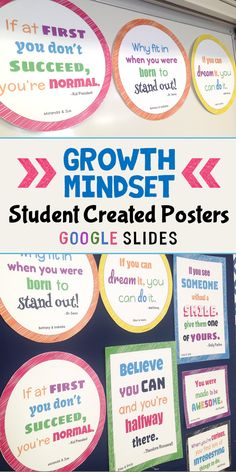 Stop buying growth mindset posters to decorate with and have your students create them! Build community and let your students have ownership of their classroom. Great back to school activity for the first week of school or anytime during the year.