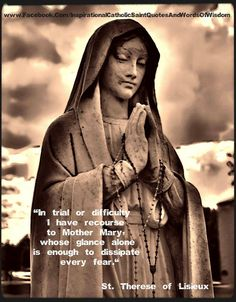St therese of lisieux our blessed mother for Garage mary lisieux