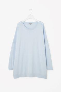 Long cotton-cashmere jumper