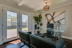 This staged home office makes working from home a treat!