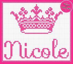 Nomes em Ponto Cruz: Nicole - Nomes em Ponto Cruz