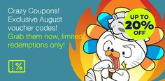 Crazy Coupon Exclusive August 2017 Voucer Code Grap Them Now Redemtion Only Special Promotion, Coupons, Coding, Fictional Characters, Coupon, Fantasy Characters, Programming