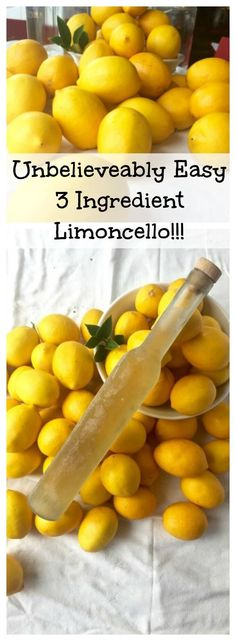 Unbelievably easy three ingredient limoncello recipe for smooth, mellow, and incredibly delicious limoncello | Tasting Everything