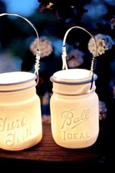 so cute, mason jar lamps by alyssa ettinger