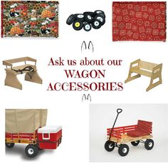 AMISH HANDCRAFTED CHILDREN WAGON RED blue pink green john deere cart garden beach play kids classic radio flier USA American made America hardwood Lancaster