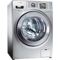 Lava e Seca Samsung WD856UHSASD/AZ 8,5 kg Prata - Água Quente e Fria c/ Tecnologia Eco Bubble