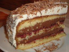 Čokoládová torta s mascarpone (fotorecept) - Recept Tiramisu Cake, Food And Drink, Sweets, Ethnic Recipes, Mascarpone, Gummi Candy, Candy, Goodies, Treats